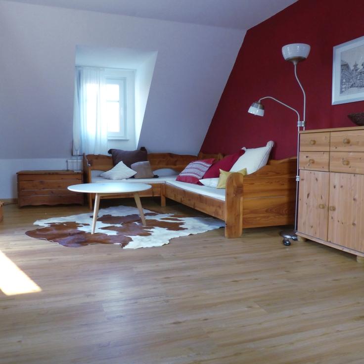 Schlafecke im Wohnschlafzimmer